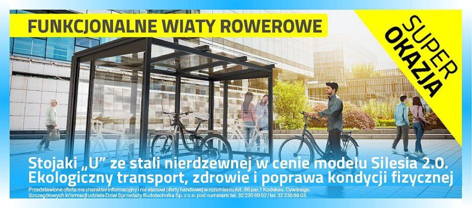 Wiaty rowerowe - Promocja dla szkół 2021 www.budotechnika.com.pl